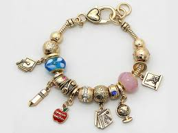 gold charm bracelet beads images Special teacher charm heart toggle bracelet jewel addicts jpg