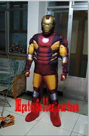 real pictures deluxe iron man mascot costume fancy dress factory