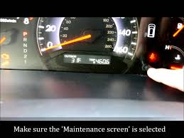 how to reset the maintenance light on a 2005 2010 honda odyssey