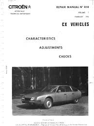 citroen cx manual series 1 volume1 transmission mechanics tire