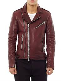 leather biker jackets for sale balmain distressed leather biker jacket in red for men lyst