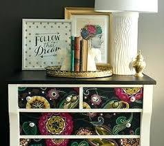 Mod Home Decor Mod Home Decor Decoupage Dresser Fabric Makeover Chalk Paint