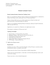 application letters dental assistant cover letters dental assistant intensive dental