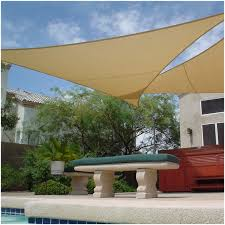 backyards cozy triangular shade sails 23 sun sail deck
