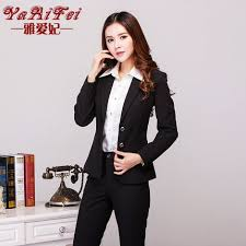 buy women wear pants suits interview slim ladies dress suit skirt