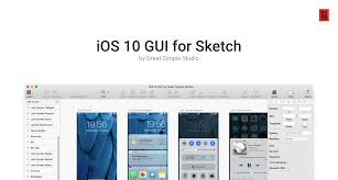 ios 10 gui for sketch pixel hours