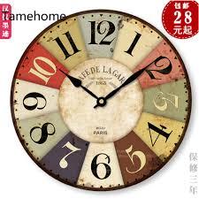 Horloge Cuisine Rouge by Grande Horloge Murale Cuisine Pendule Rectangulaire Bois