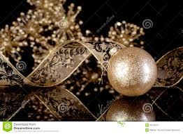 Black And Gold Christmas Tree Decorations Glitter Gold Christmas Ornament Stock Photo Image 55248721
