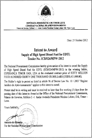 Letter Of Intent Finance by La U0027o Hamutuk Timor Leste Gov U0027t Also Pays Too Much For Fuel