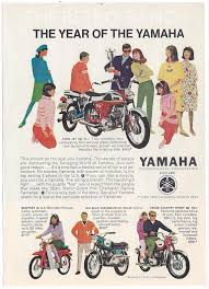 yamaha motorcycle ad vintage yamaha the year of by theretroranch