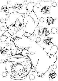 cat color animal coloring pages color plate coloring sheet