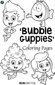 bubble guppy coloring pages eson me