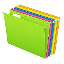 Decorative Hanging File Folders Pendaflex Essentials Glow Hanging File Folders 5 Tab Positions