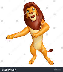 3d rendered illustration pointing lion cartoon stock illustration