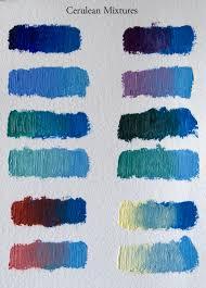 favorite paint mixtures cerulean blue elizabeth floyd