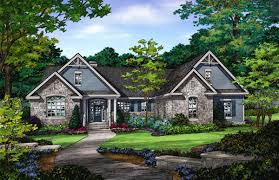 plan of the week ranch and hillside walkout houseplansblog the mayfair craftsman ranch house plan 1317