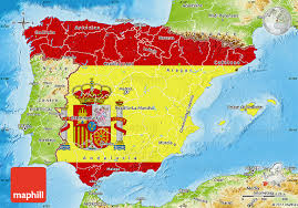 physical map of spain flag map of spain physical outside