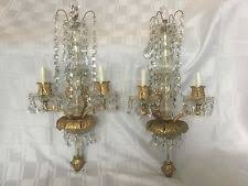 Chandelier Wall Sconce Antique Crystal Sconces Ebay