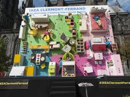 Ikea Wall Art To French by Ikea Built A Furniture Rock Climbing Wall In France Business Insider