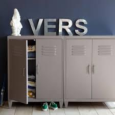 armoire metallique chambre ado armoire locker en métal am pm la redoute relooker appartements