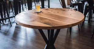 Reclaimed Wood Bistro Table Industrial Style Reclaimed Wood Pub Tables By Malecki