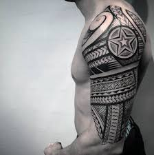 Half Sleeve Arm - 75 half sleeve tribal tattoos for masculine design ideas