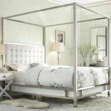 upholstered canopy bed canopy bed with white faux leather