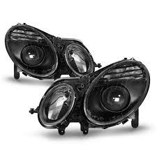 mercedes headlights 03 09 mercedes benz w211 e class hid model projector headlights