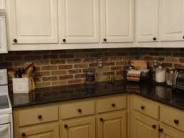 brick backsplash kitchen stunning brick veneer kitchen backsplash 85 on home designing