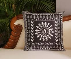 wholesale 18 x 18 inch decorative black u0026 white unique warli art