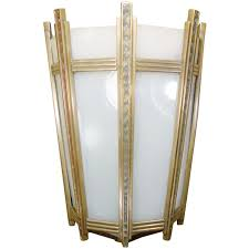 Deco Wall Sconces Art Deco Bronze And Glass