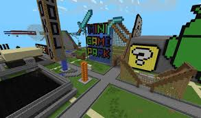 Mpce Maps Mini Game Amusement Park V 1 Sand Lava Warriors Skyblock