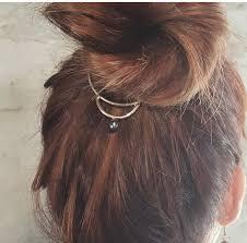 hair bun accessories hair bun jewelry pearl hair cuff boho hair accessories metal