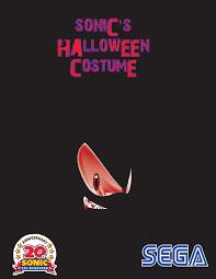 Sonic Halloween Costume Sonic U0027s Halloween Costume Poster Marioking89 Deviantart