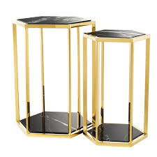 side table set of 2 gold side table set of 2 eichholtz taro oroa modern furniture