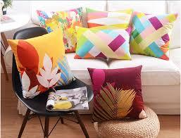 5pcs lot american style 45 45cm square decorative cushion cover