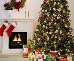 christmas interior christmas tree gifts decoration fireplace