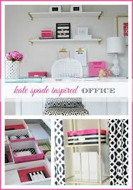 Pink Office Furniture by Operation Organization Amy U0027s Organized Kate Spade Inspired