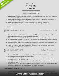 resume template for executive assistant how to write a perfect administrative assistant resume examples administrative assistant resume elizabeth torres