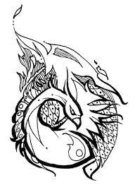 phoenix tribal tattoo design in the papper