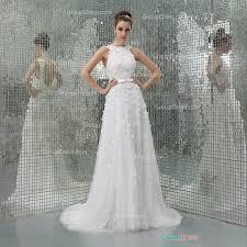 custom wedding dress crew neck sleeveless luxury flower beaded patterns tulle