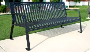 park benches crown style ribbed one piece park bench belson outdoors