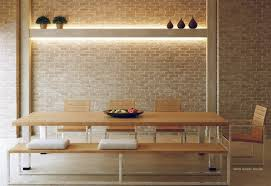 The Brick Dining Room Furniture 4 Neutral Exposed Brick Dining Room Bench Interior Design Ideas