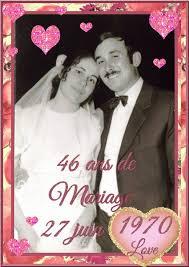 48 ans de mariage nous fêtons ce jour nos 46 ans de mariage les créations de