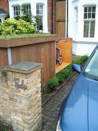 modern outdoor bike garage by treesaurus home decoratings and diy