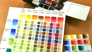 how to make a watercolour colour chart watercolour journey by