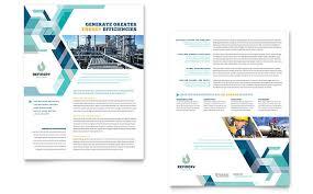 engineering brochure templates free gas company datasheet template design