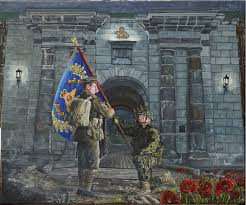 Painting A Flag Army News National Canadian Army Article Infanteer Has