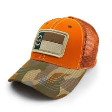White Blue Orange Flag Our Latest North Carolina Patch Hat Is Blaze Orange And Woodland