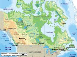 physical canada map